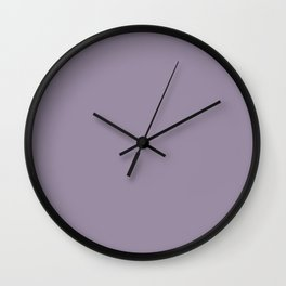 Elevated Mid Tone Purple Solid Color Pairs To Sherwin Williams Berry Cream SW 9075 Wall Clock