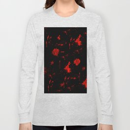 Red Paint / Blood splatter on black Long Sleeve T-shirt