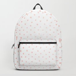 Cool Rose Gold Polka Dots Backpack