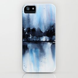 Blue Tree Reflections iPhone Case