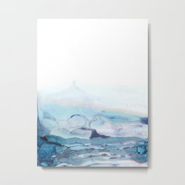 Indigo Abstract Painting | No.6 Metal Print
