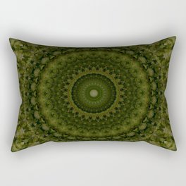 Mandala in olive green tones Rectangular Pillow