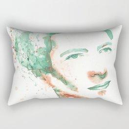 Simone de Beauvoir watercolor painting Rectangular Pillow