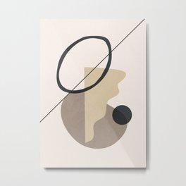 Minimal Abstrac Shapes 16 Metal Print