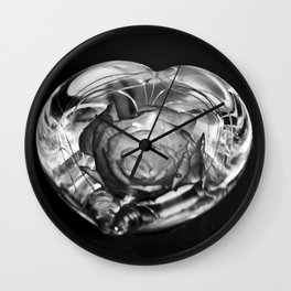 beauty and the flower Wall Clock