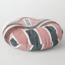 Pink House in Nola Floor Pillow