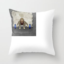 Sock Monkey Bodybuilder Throw Pillow