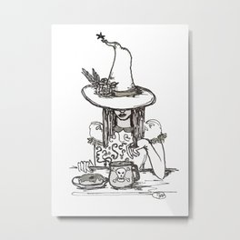 good witch or bad witch poison ring breakfast of champions glazed donut Metal Print