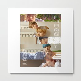 BTS LOVE YOURSELF HER - L O V E Metal Print