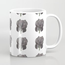 Black Iris pattern Coffee Mug