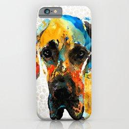 Great Dane Dog Art Portrait - Those Eyes - Sharon Cummings iPhone Case