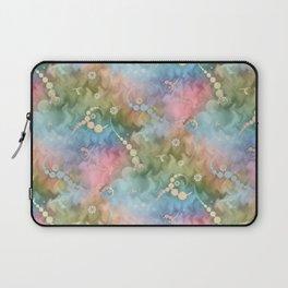 Satin Rainbow Pastel Floral Laptop Sleeve