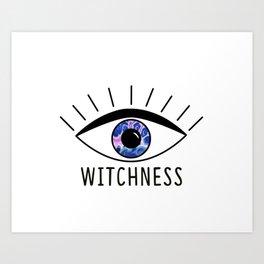 Witchness Logo Art Print