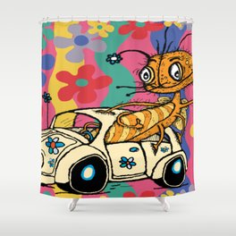 that '70s bug...a bug in a bug Shower Curtain