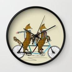 fox days lets tandem Wall Clock