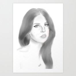 Del Rey (plain) Art Print