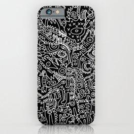 Black and White Street Art Tribal Graffiti iPhone Case