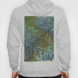 Irises by Claude Monet Hoody