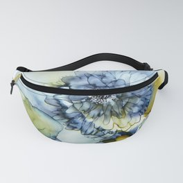 Alcohol Ink - Blue Floral Series 1 Fanny Pack