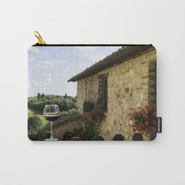 A Glass of Wine in Tuscany Carry-All Pouch
