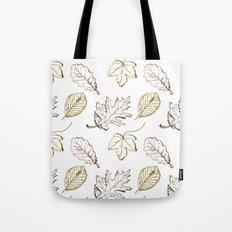 Leaves (browns) Tote Bag