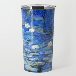 waterlilies a la Monet Travel Mug