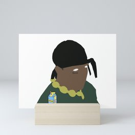 Ski Mask Rapper Mini Art Print
