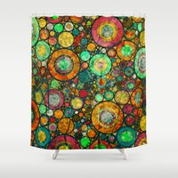 andreas preis Shower Curtains featuring Ring Pattern 3 by Klara Acel