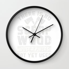 Funny Scrap Wood Woodworking Gift Print Carpenter Product Wall Clock