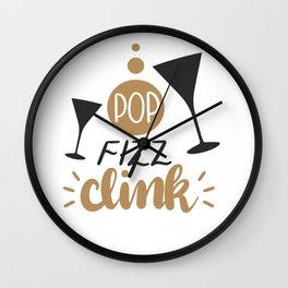 Pop Fizz Clink shirt Wall Clock