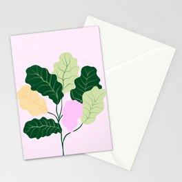 fiddle leaf fig Stationery Cards