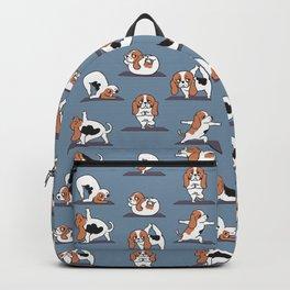 Basset Hound yoga Backpack