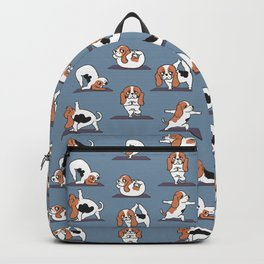 Basset Hound yoga Backpack