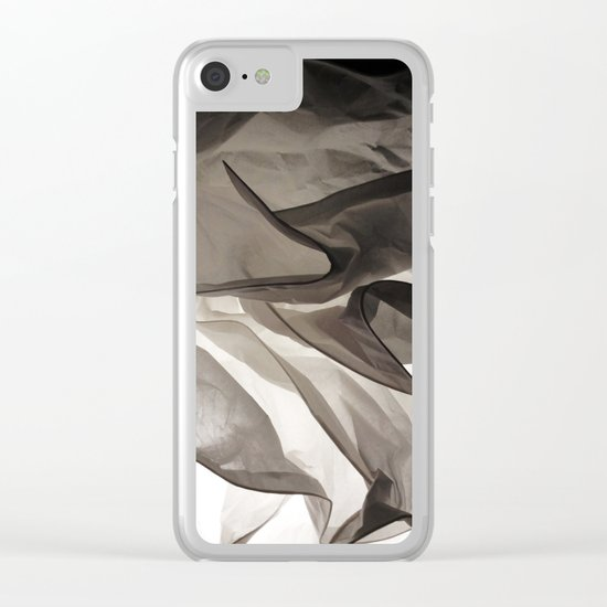 Monochromatic Shapes Clear iPhone Case