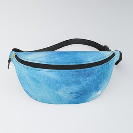 Turquoise watercolor doodle Fanny Pack