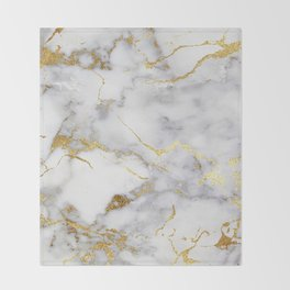 Italian gold marble Throw Blanket