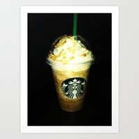 starbucks Art Prints featuring Starbucks by bobbierachelle