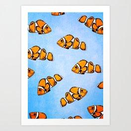 Clownfish Pattern Art Print