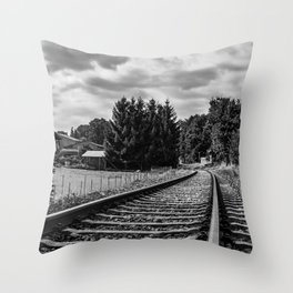 Gödenstorf countryside railroad Throw Pillow