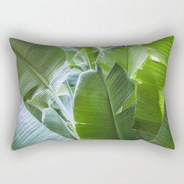 Banana Leaves | Green | Home Decor | Art Print | Tropical Plant Rectangular Pillow