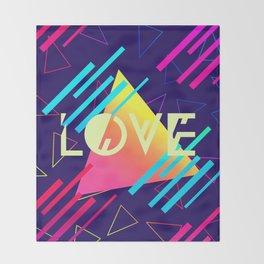 LOVE (80's Style) Throw Blanket