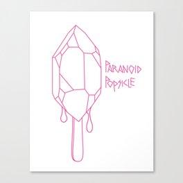 Paranoid Popsicle Canvas Print
