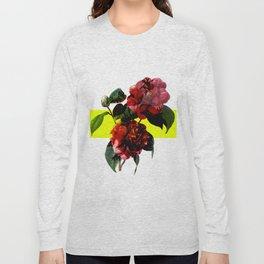 Vintage Blooms /Neon Block Long Sleeve T-shirt