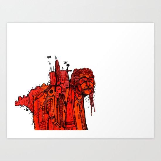 Afro Bono Art Print