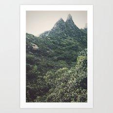 Hawaii Mountain Art Print