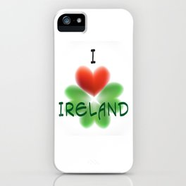 I love Ireland iPhone Case