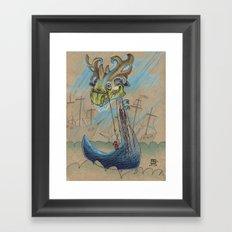 DRAGON BOAT Framed Art Print