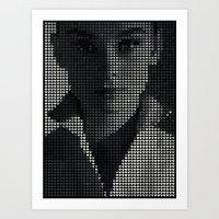 hepburn Art Prints featuring Hepburn by Robotic Ewe