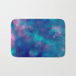 Blue-pink abstract polygonal background Bath Mat