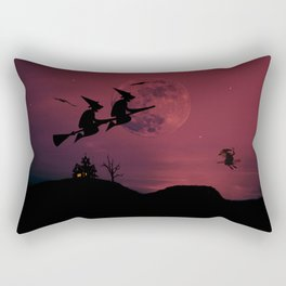 Witches in the air Rectangular Pillow